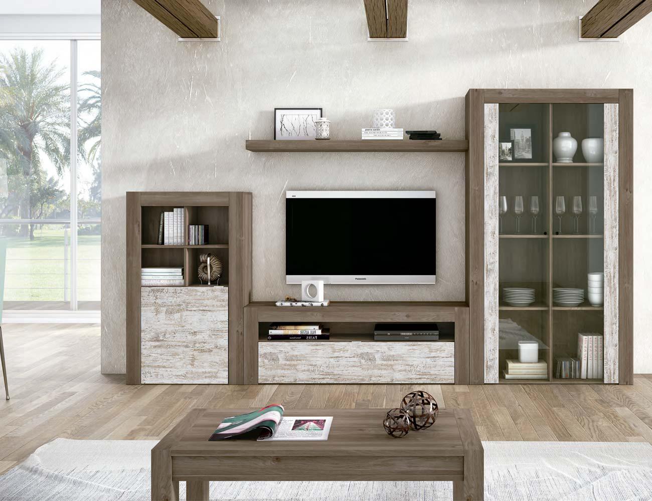 Mueble salon comedor estilo moderno color natural nature 13