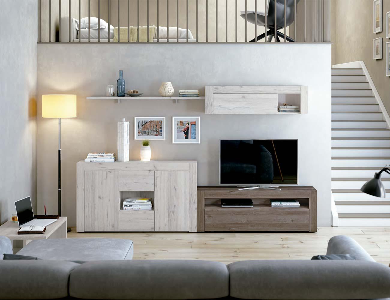 Mueble salon comedor estilo moderno color natural nature 141