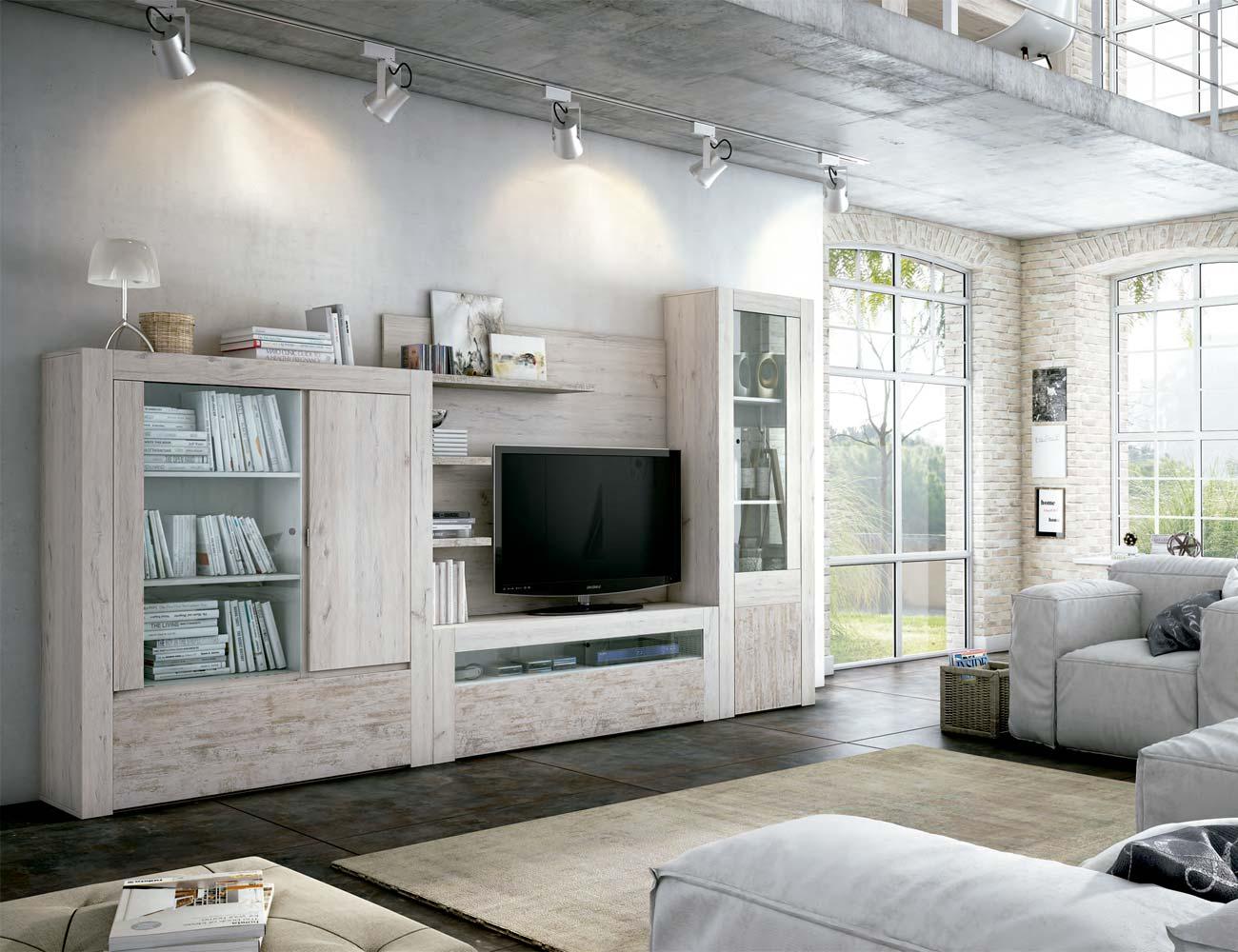Mueble salon comedor estilo moderno color natural nature 15