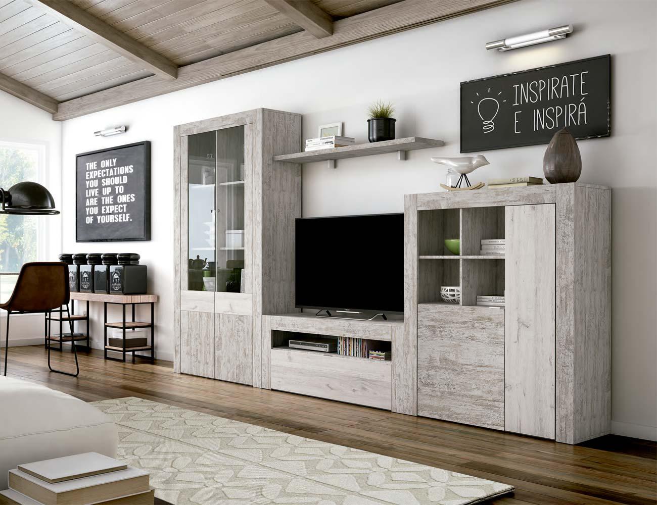 Mueble salon comedor estilo moderno color natural nature 17