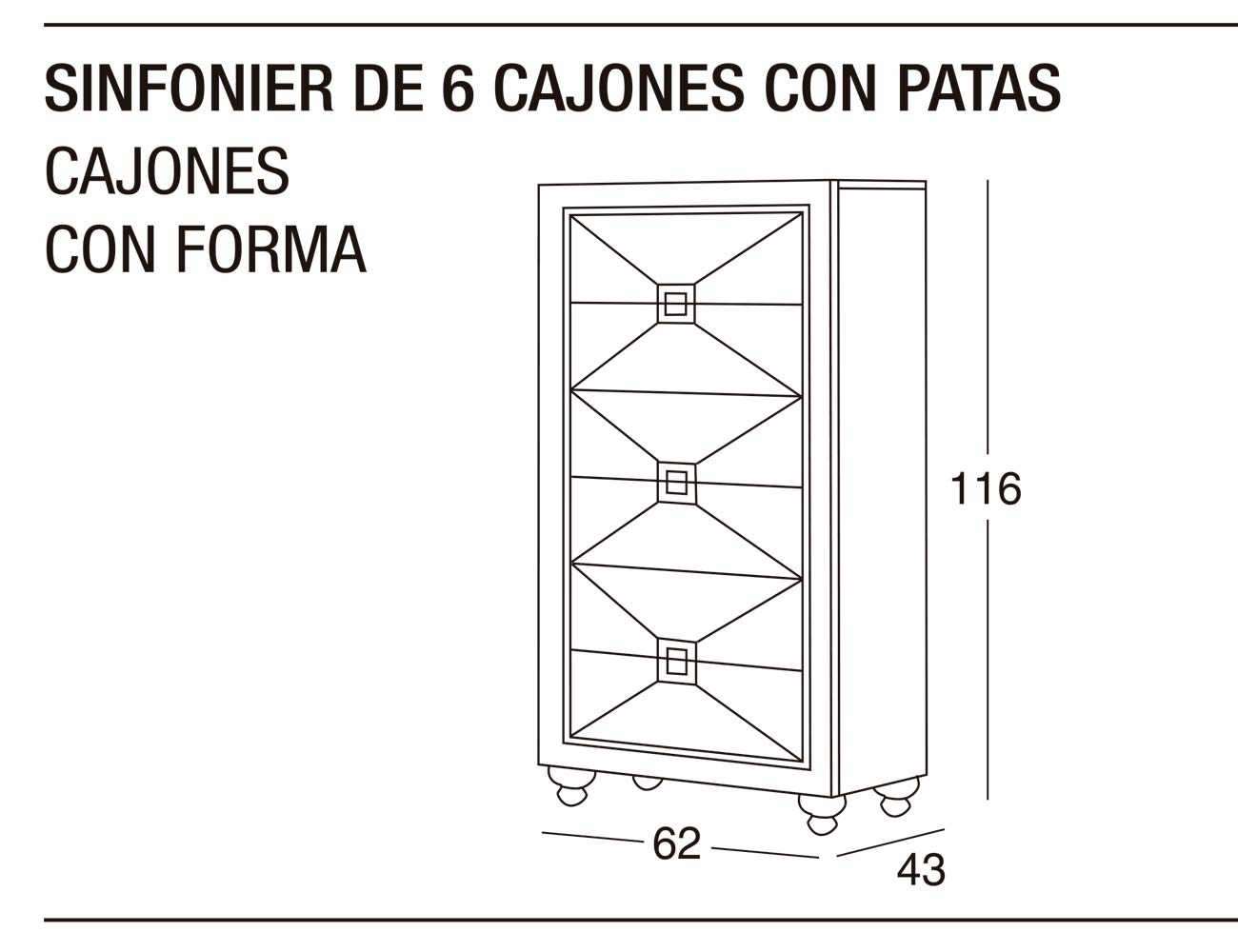 Sinfonier 6c p forma 62x116x43
