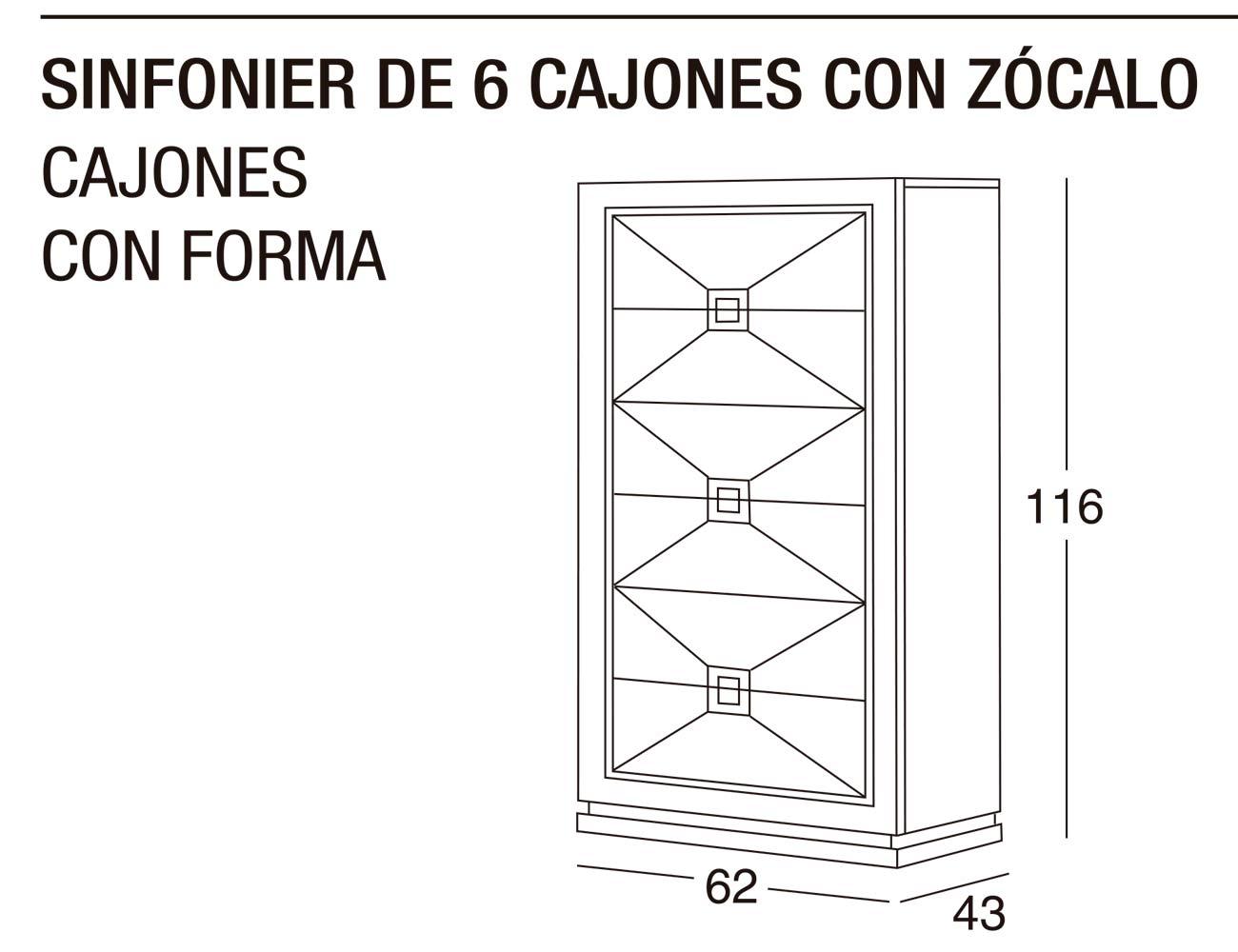 Sinfonier 6c z forma 62x116x43