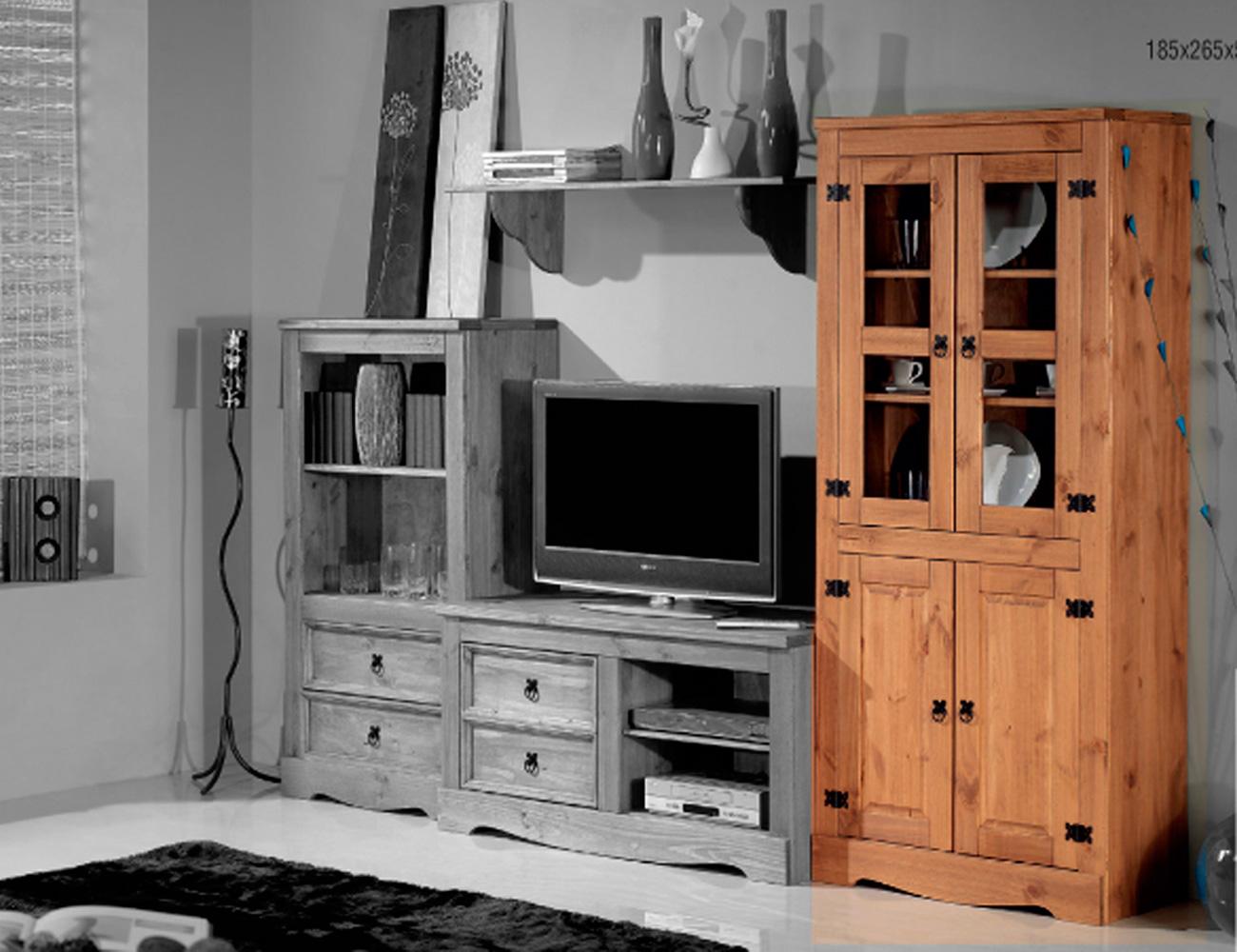 Mueble de sal n comedor de madera rustico 250 cm factory - Puertas de comedor ...
