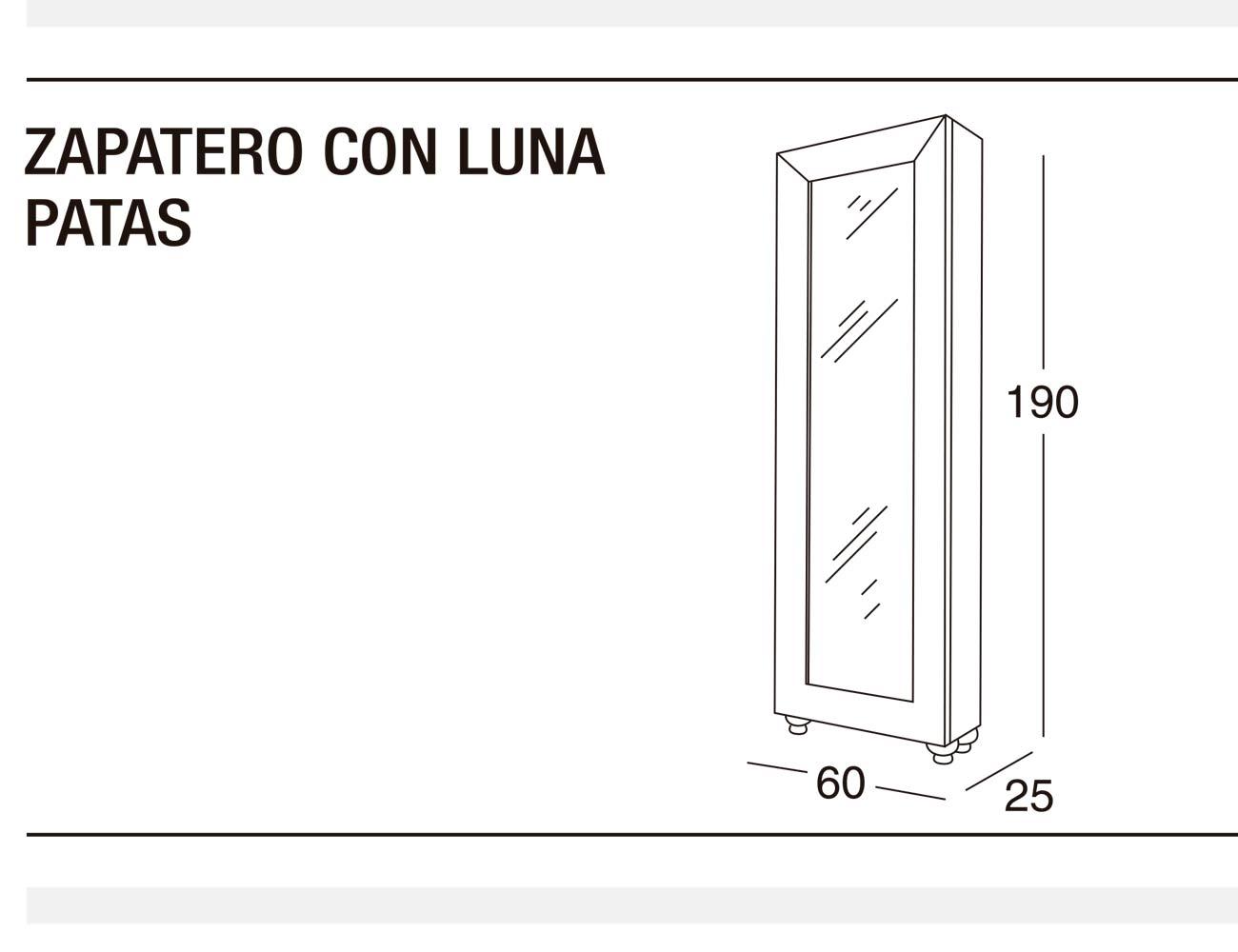 Zapatero luna p 60x190x25