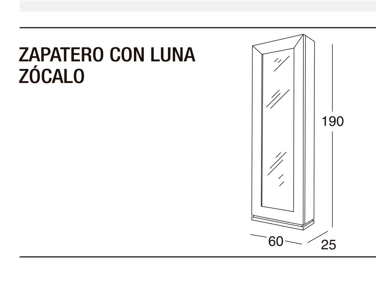 Zapatero luna z 60x190x25