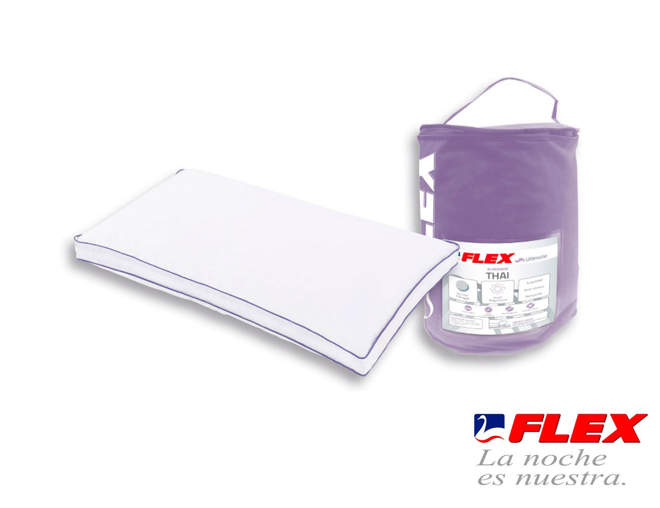 Almohada flex thai fibra gel6
