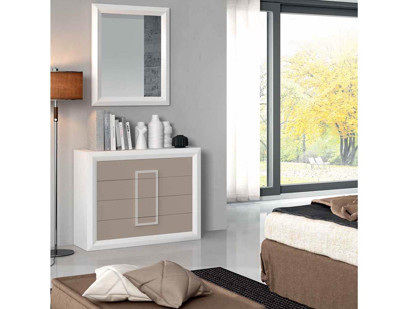 C moda con marco espejo para dormitorio de matrimonio for Comodas dormitorio matrimonio