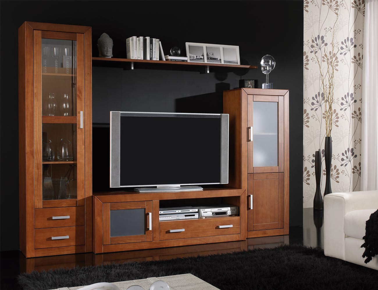 Mueble salon colonial mueble salon moderno wengue with mueble salon colonial modulares - Mueble salon tv ...