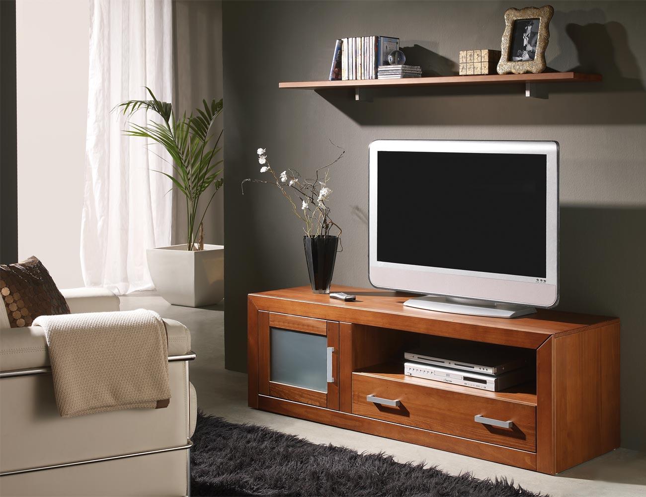 Ambiente20 mueble salon comedor tv  estante nogal