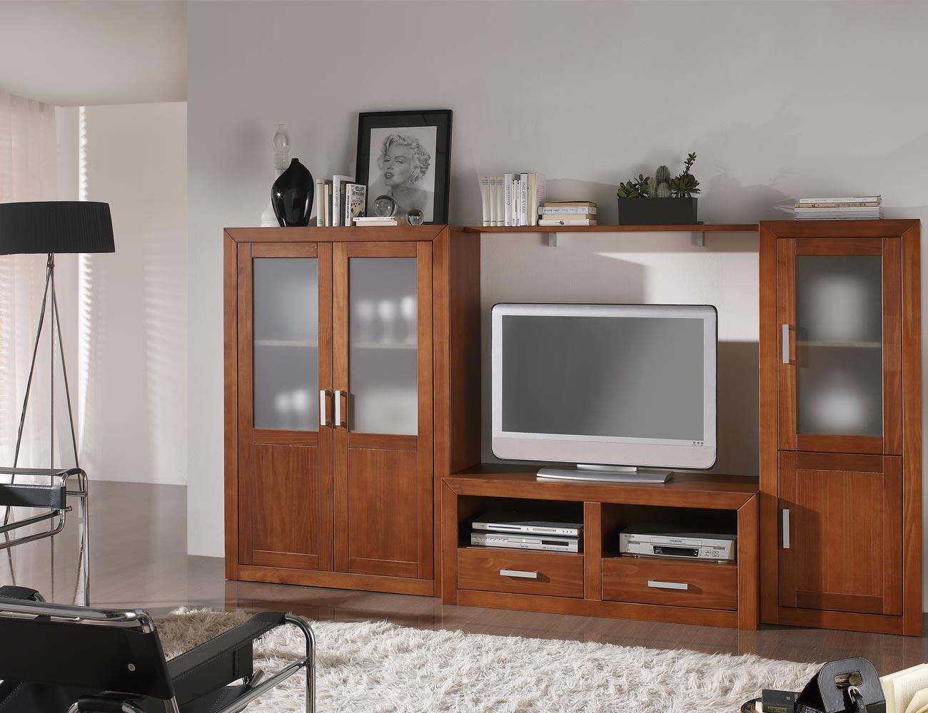 Ambiente8 mueble salon comedor bodeguero tv  mesa nogal
