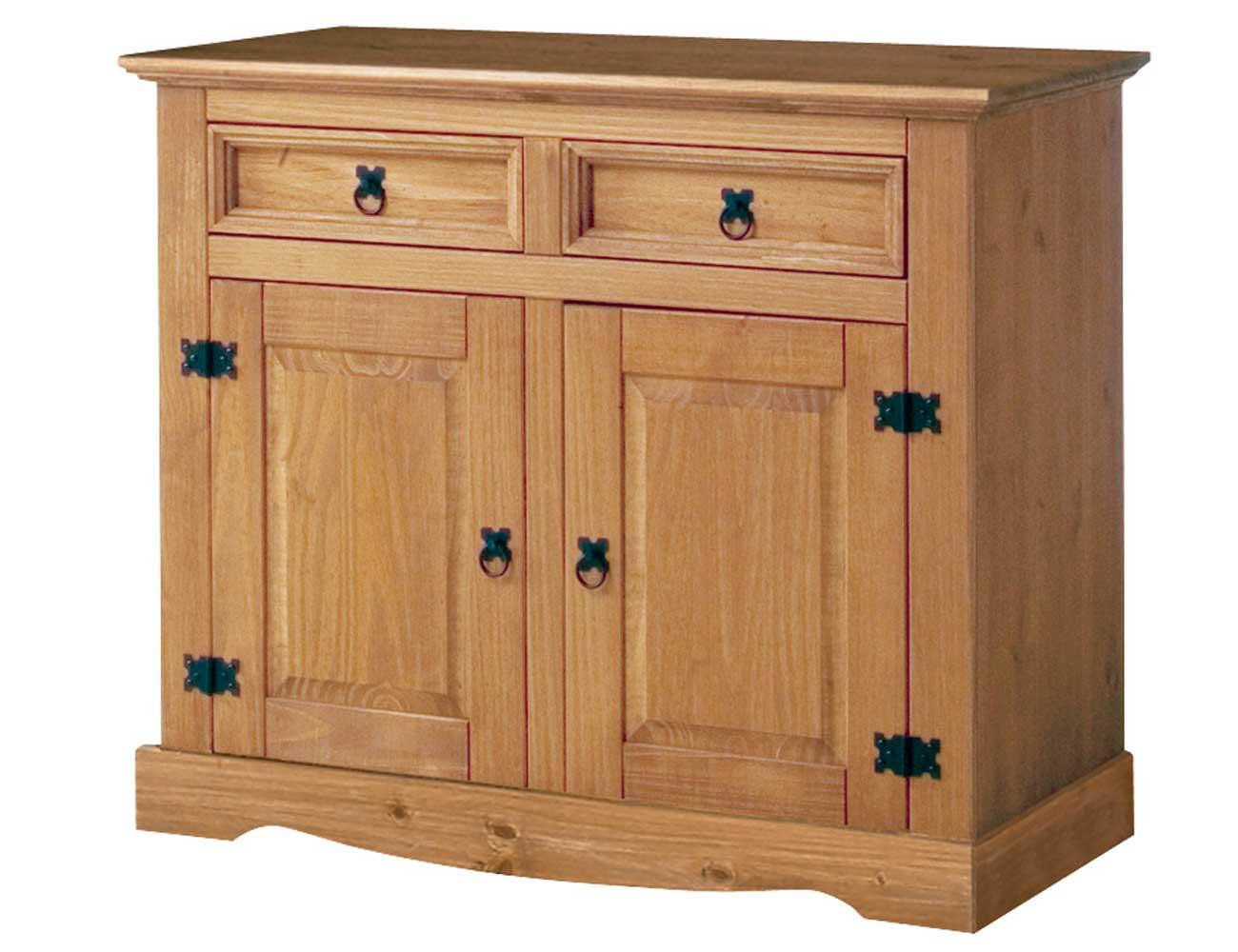 Aparador madera pino rustico 2 puertas 2 cajones