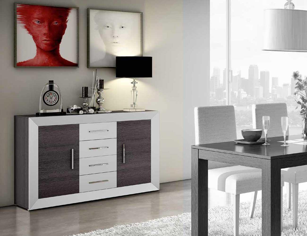 Mesa de sal n comedor extensible moderna 2438 factory for Factory del mueble sevilla