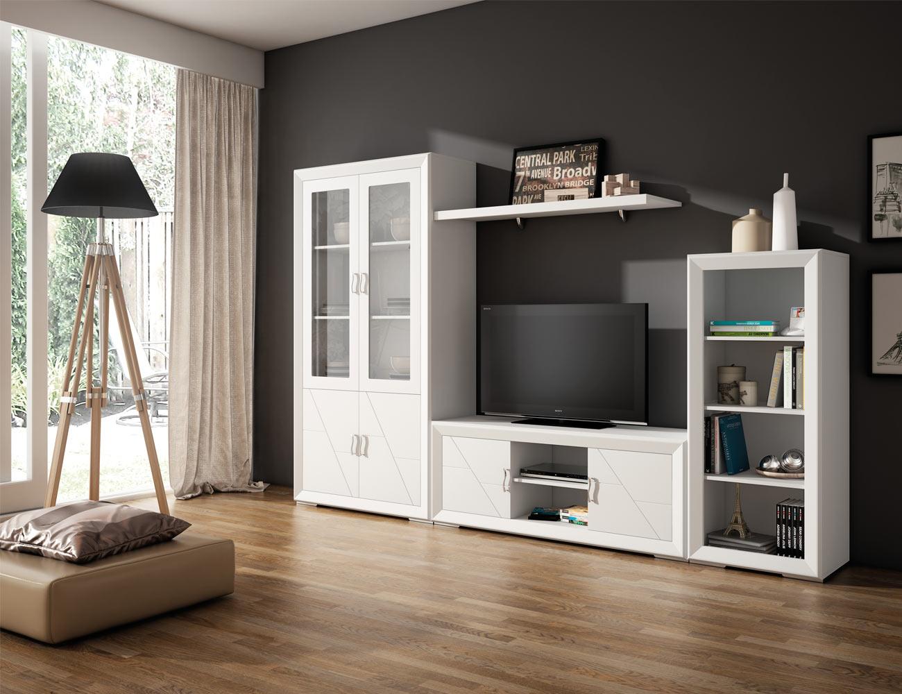 Apilable1 mueble salon comedor lacado blanco