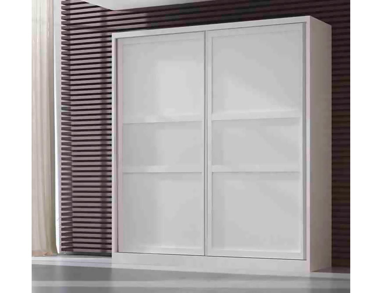 Armario 2 puertas correderas blanco1