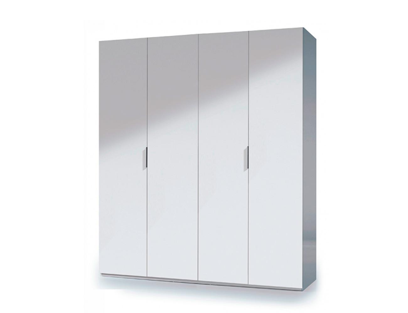 Armario 4 puertas mueble barato blanco