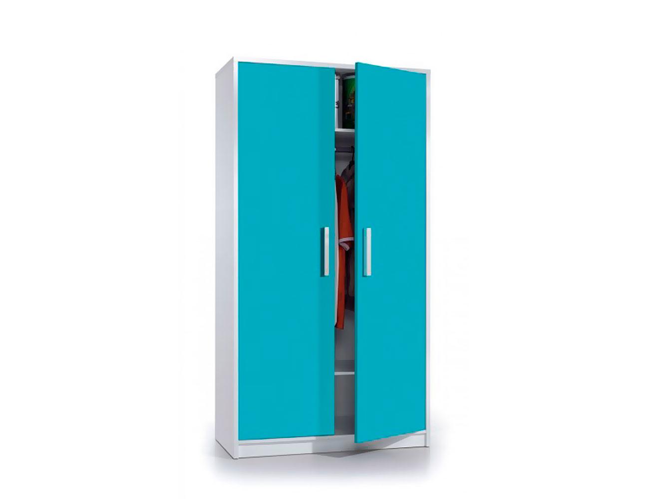 Armario juvenil 2 puertas azul