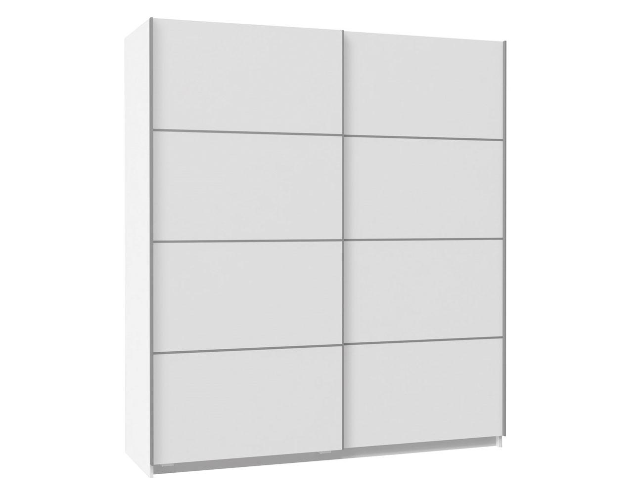 Armario puertas correderas blanco 180 cm de ancho factory del mueble utrera - Armario blanco puertas correderas ...