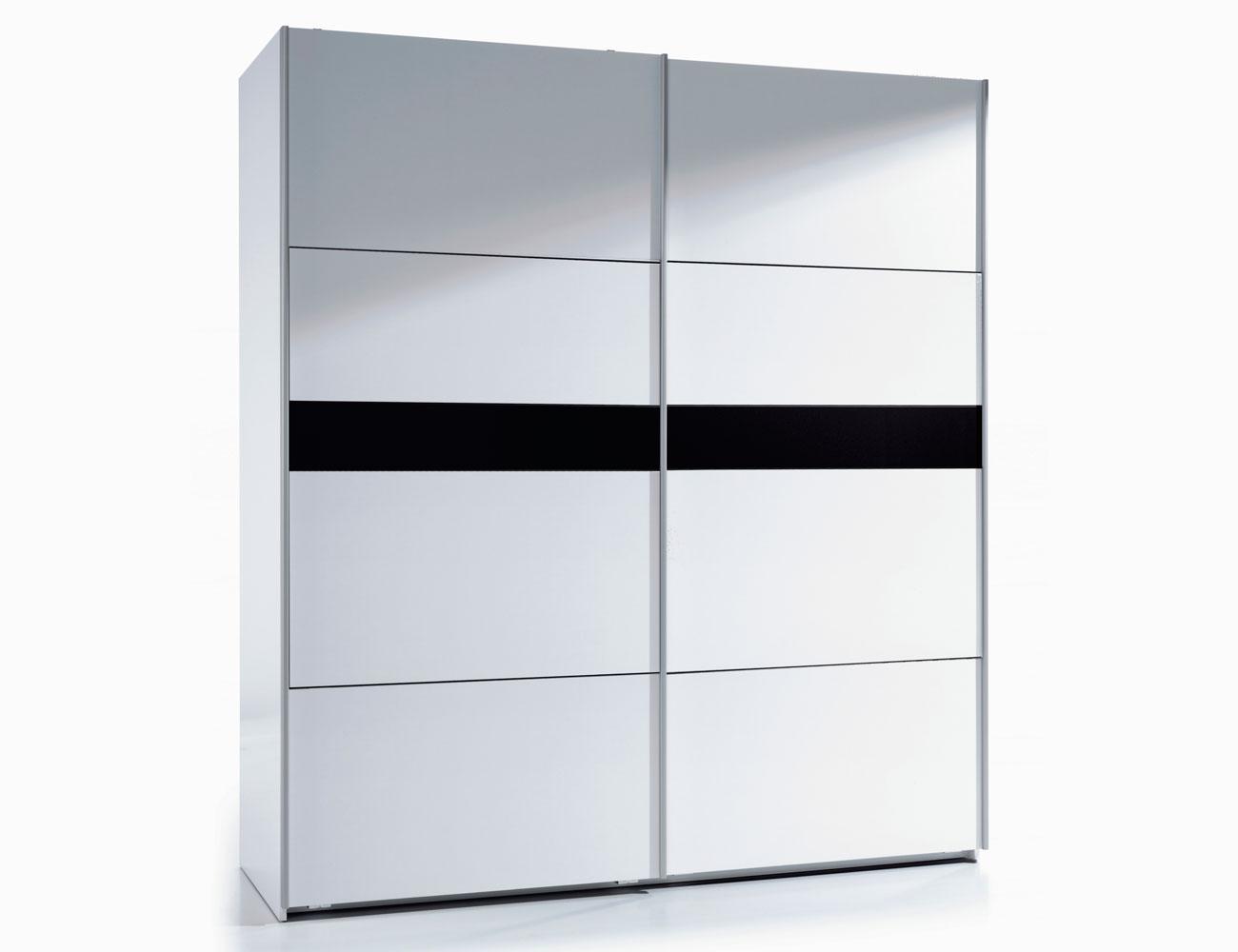 Armario puertas correderas blanco 180 cm negro
