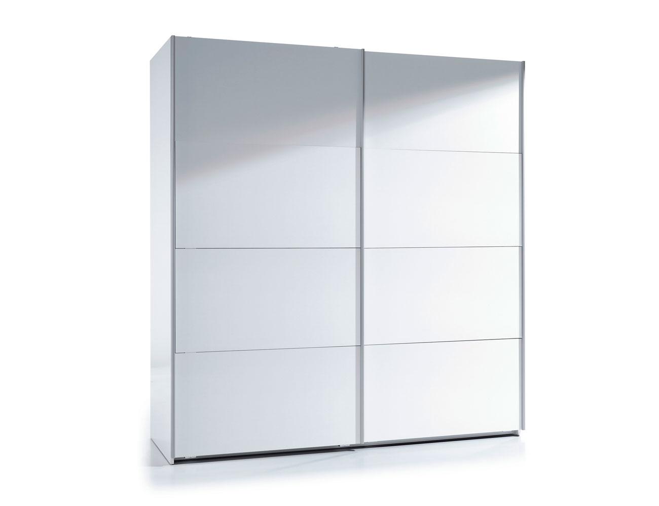 Armario de puertas correderas de 180 cm de ancho blanco for Armario puertas correderas 100 cm
