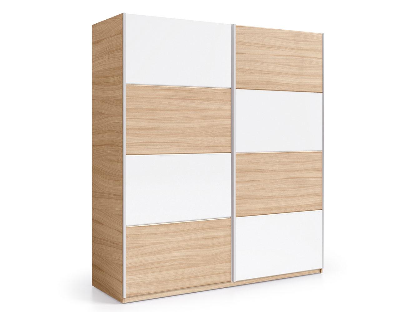 Armario puertas correderas roble blanco 180 cm
