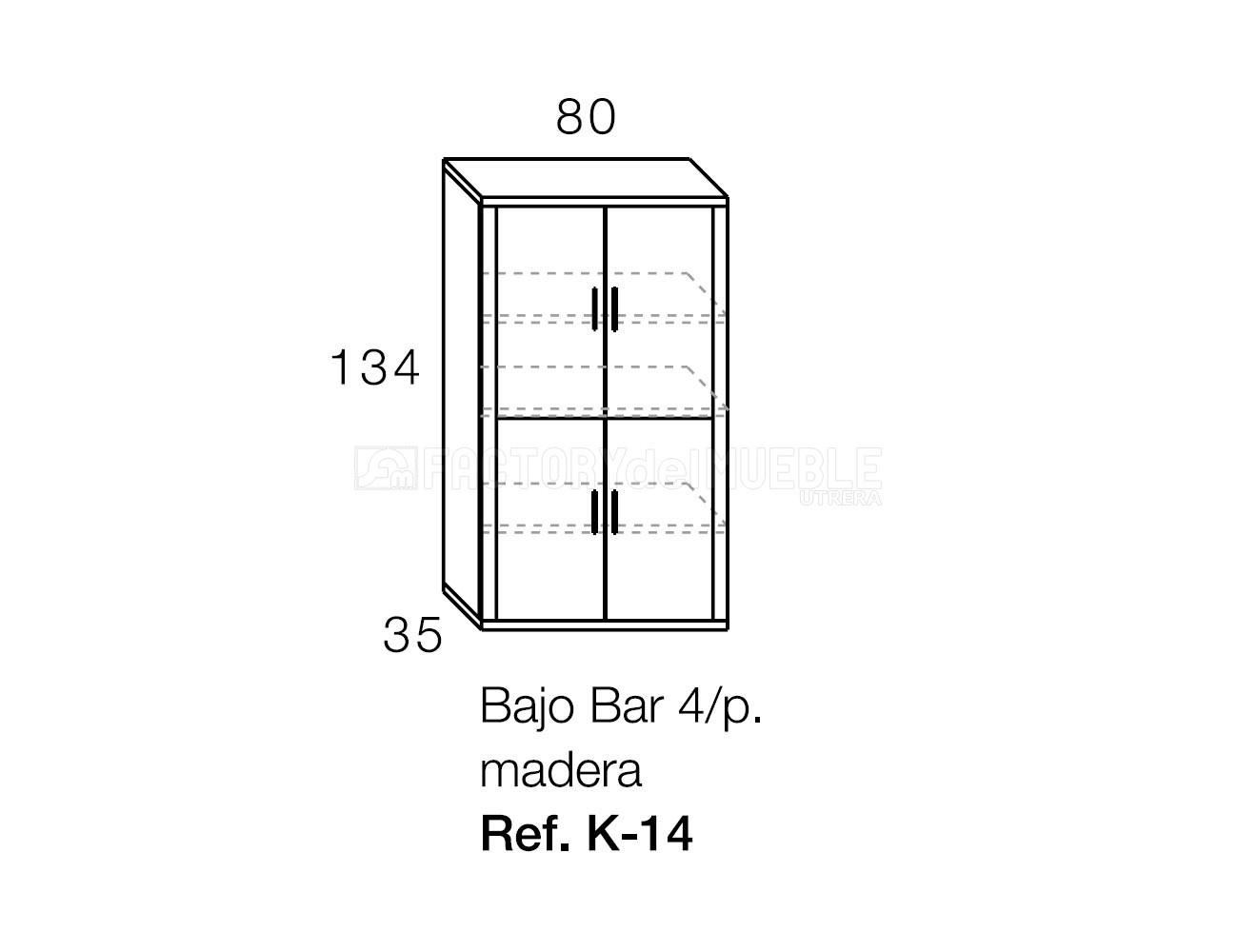Bajo bar k 14