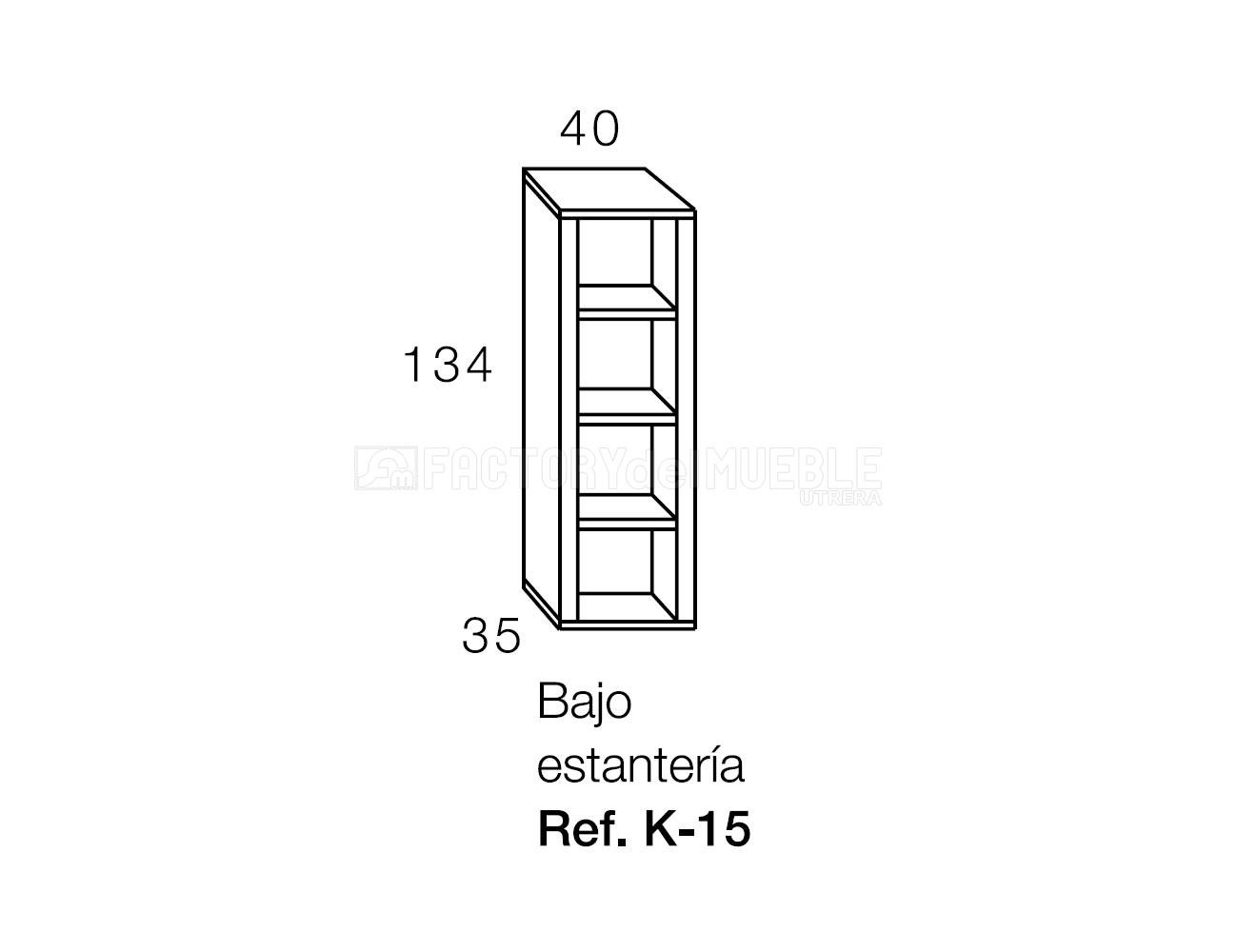 Bajo estante k15