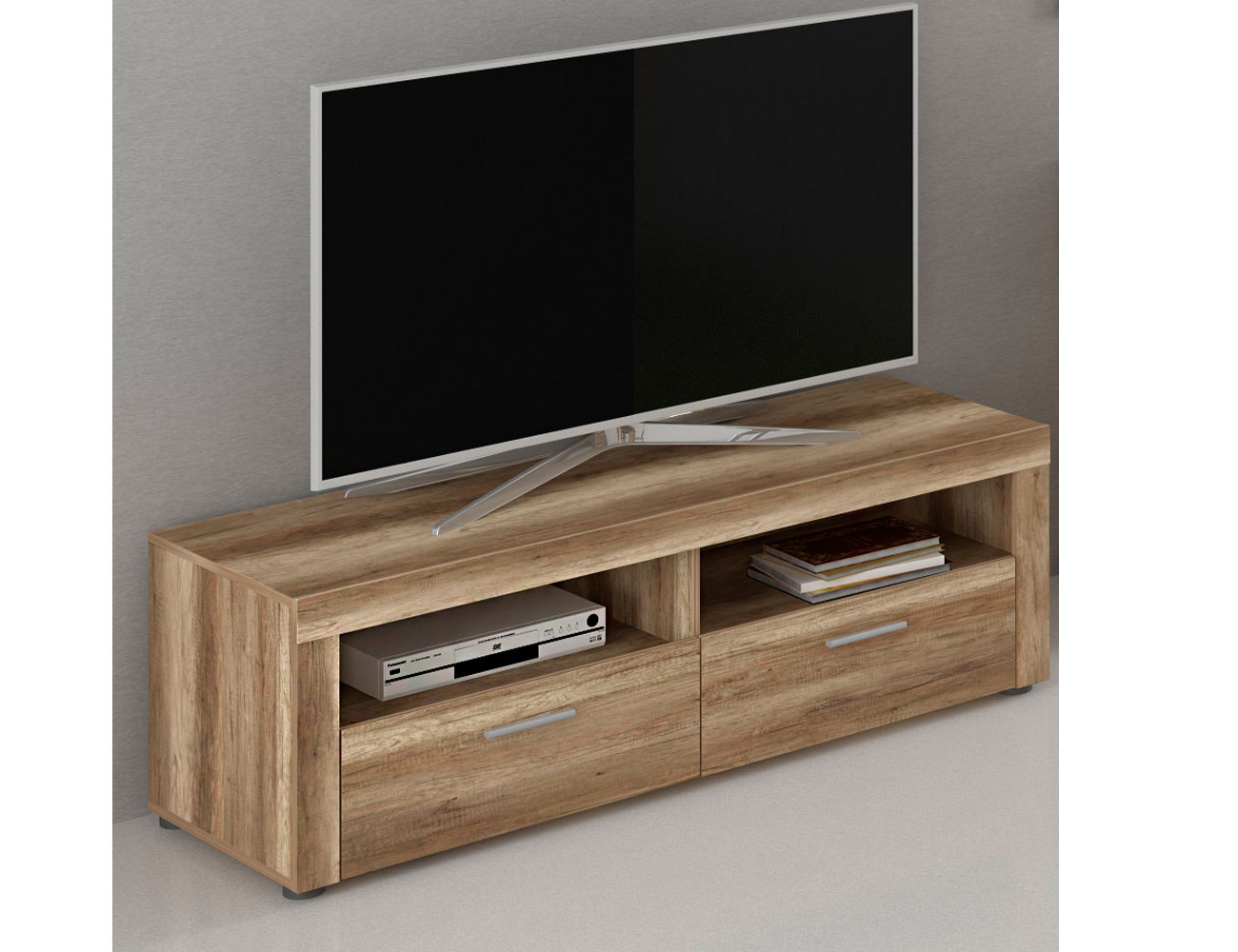 Mueble de salon bajo tv moderno 19499 factory del for Mueble tv moderno