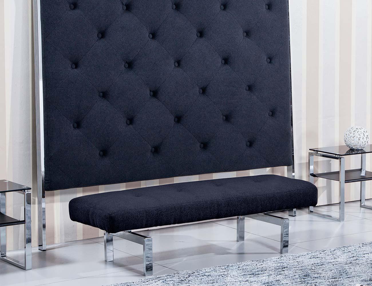 Banco banqueta tapizado gris marengo1