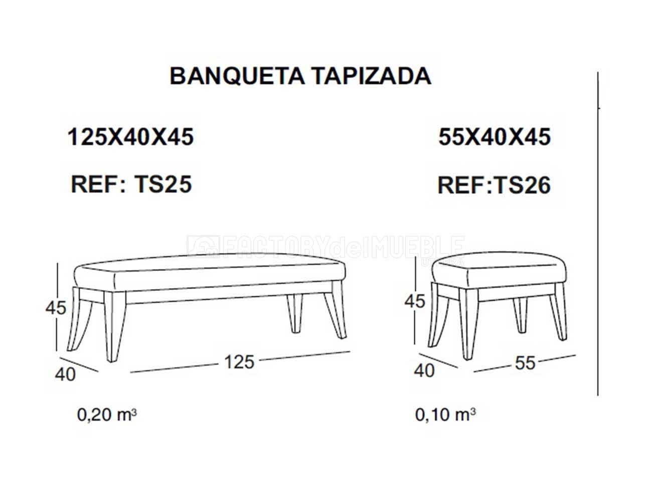 Banqueta ts25