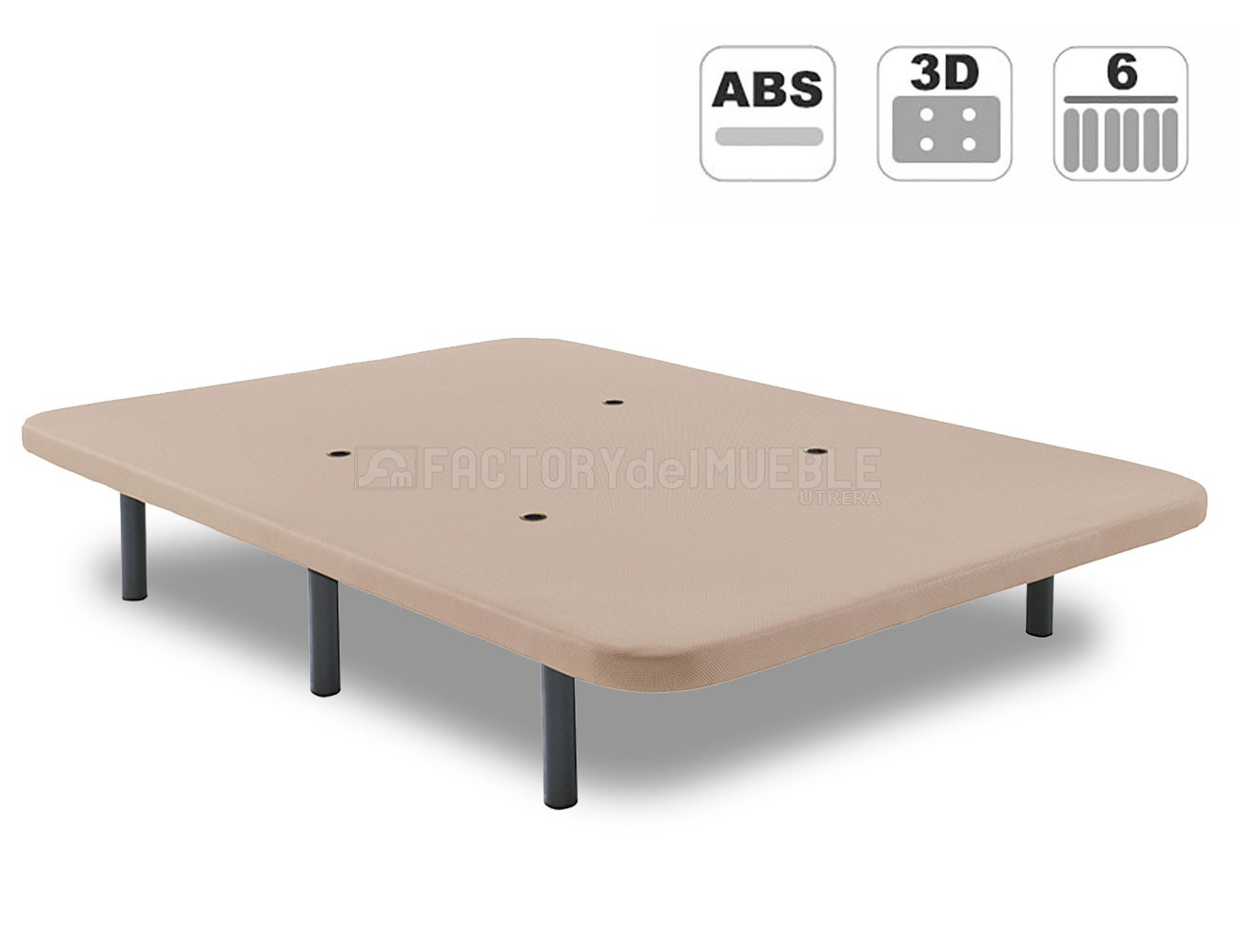Base tapizada 3d valvulas aireacion abs beig