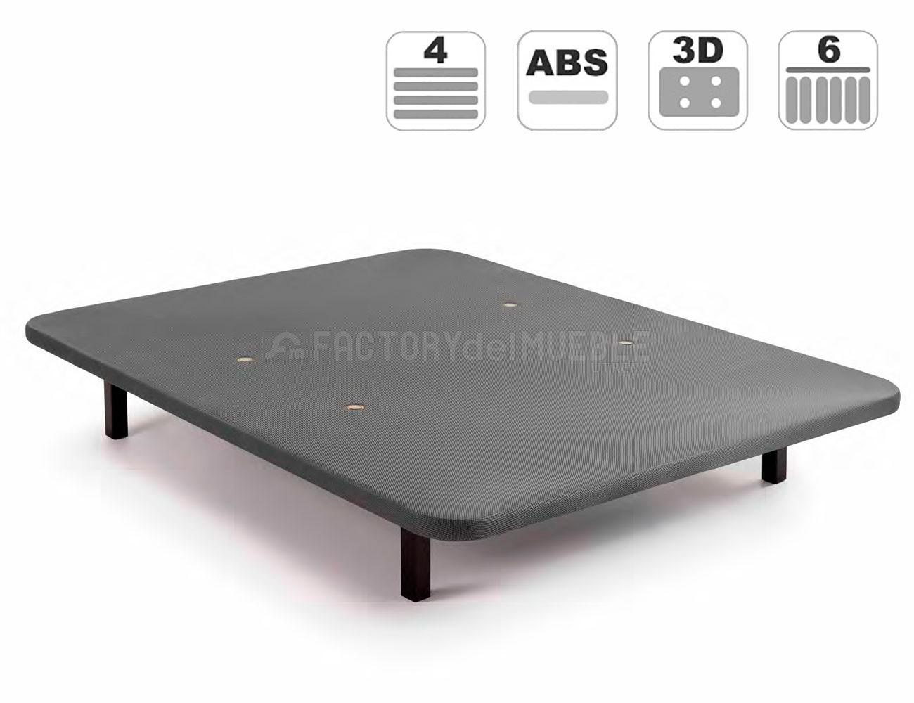 Base tapizada 3d valvulas aireacion abs gris1