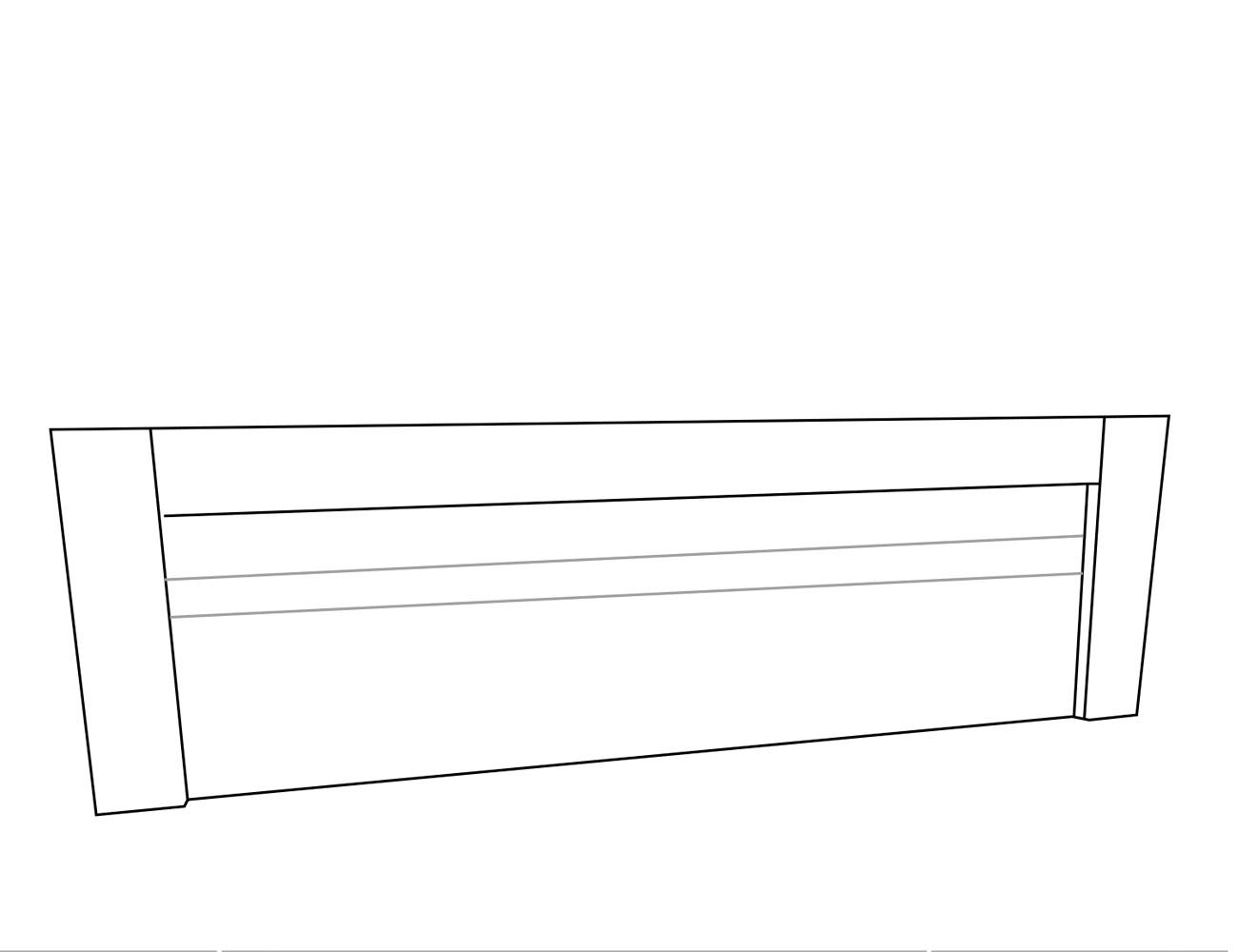 Cabecero 2 líneas 240x4x60 cm