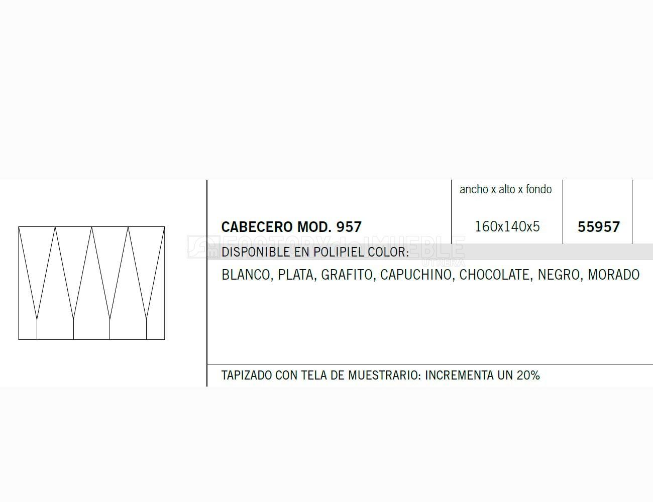 Cabecero 55957