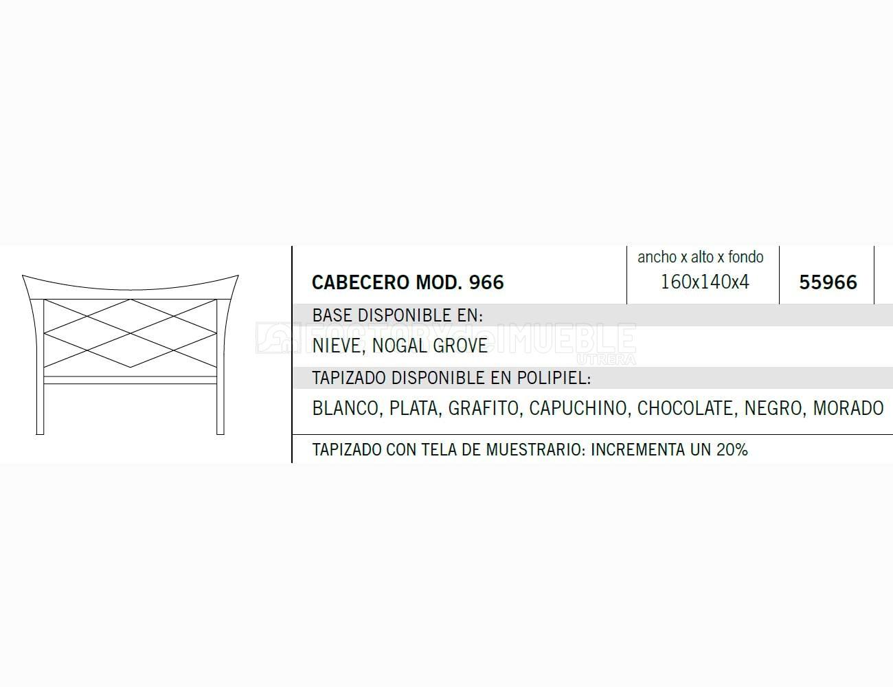 Cabecero 55966