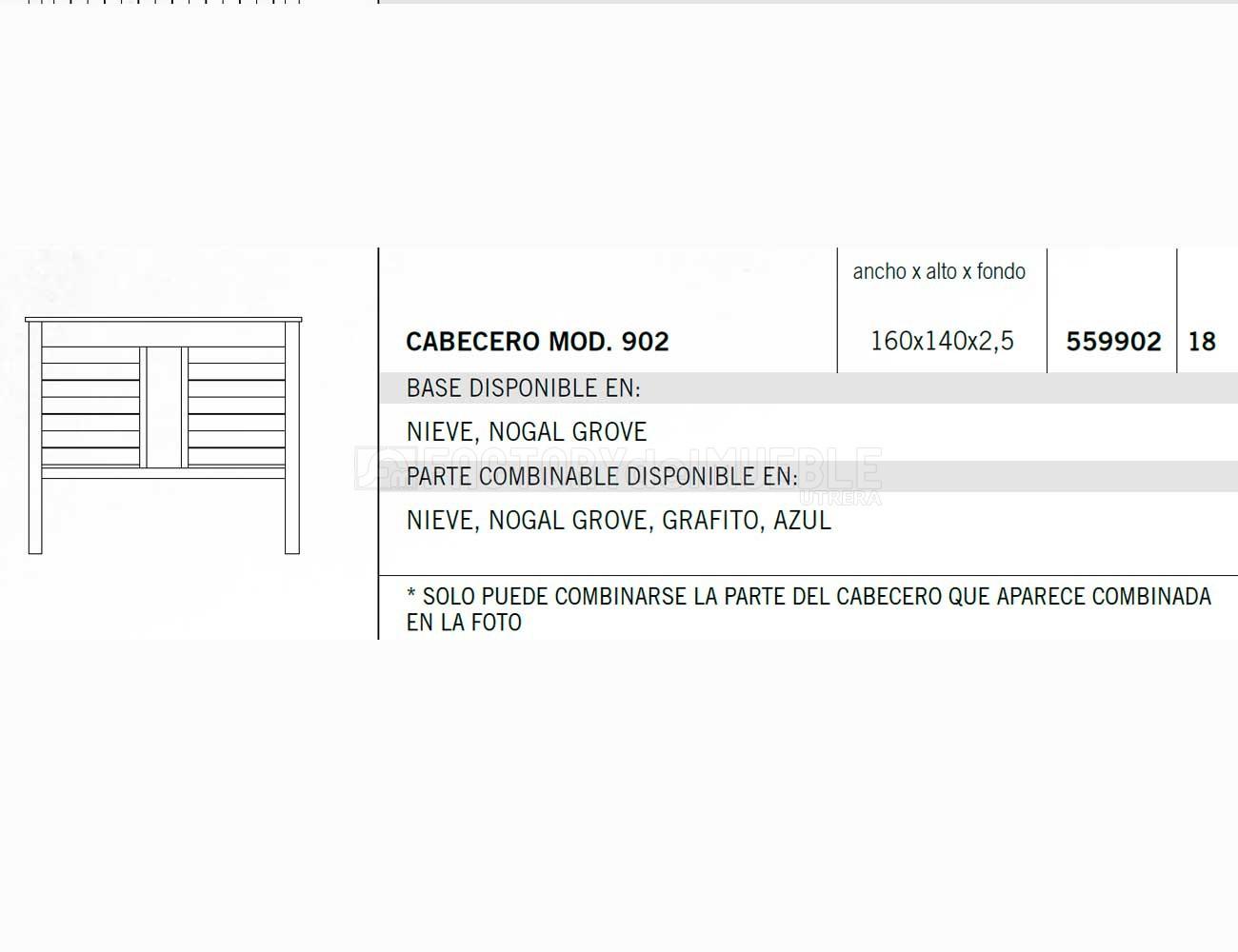 Cabecero 559902