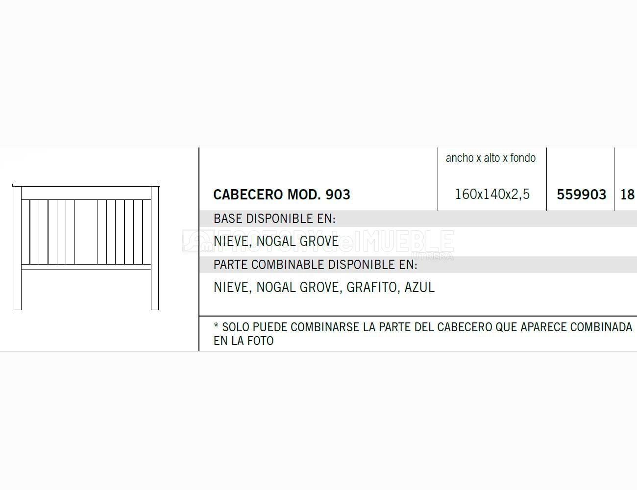 Cabecero 559903