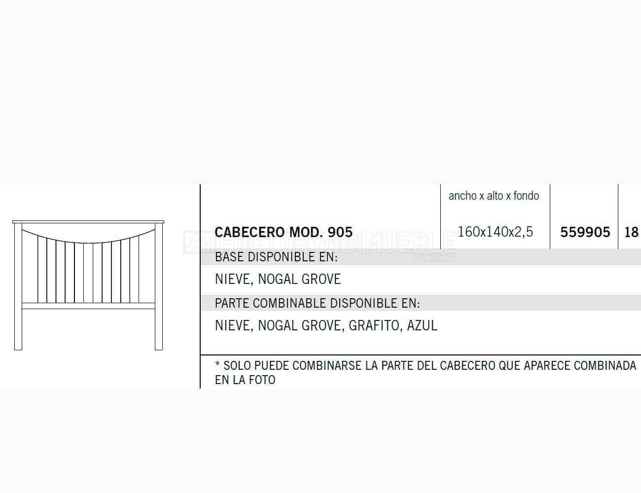 Cabecero 559905