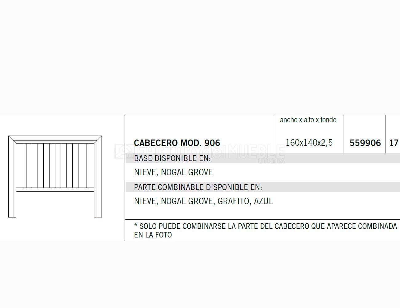 Cabecero 559906