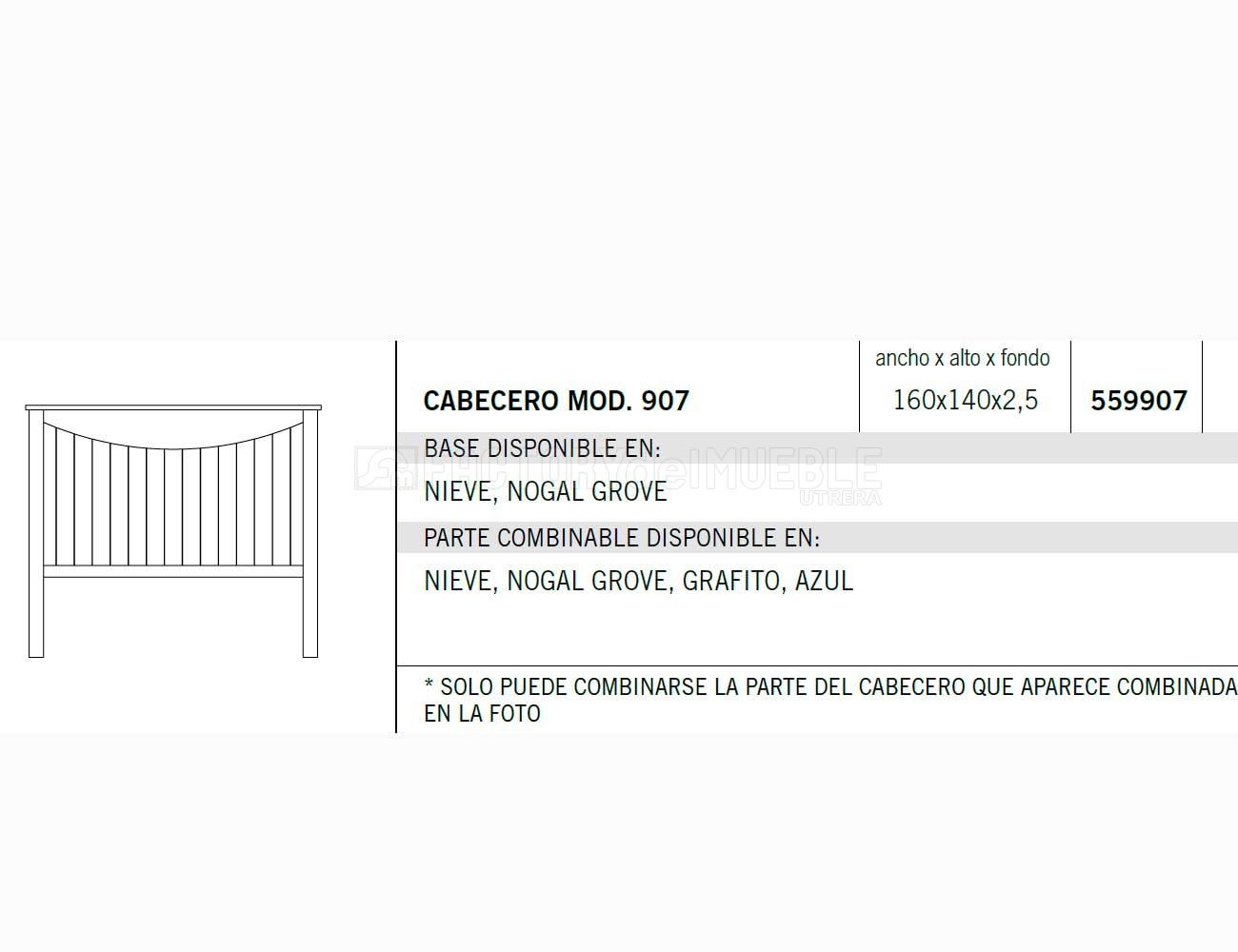 Cabecero 559907