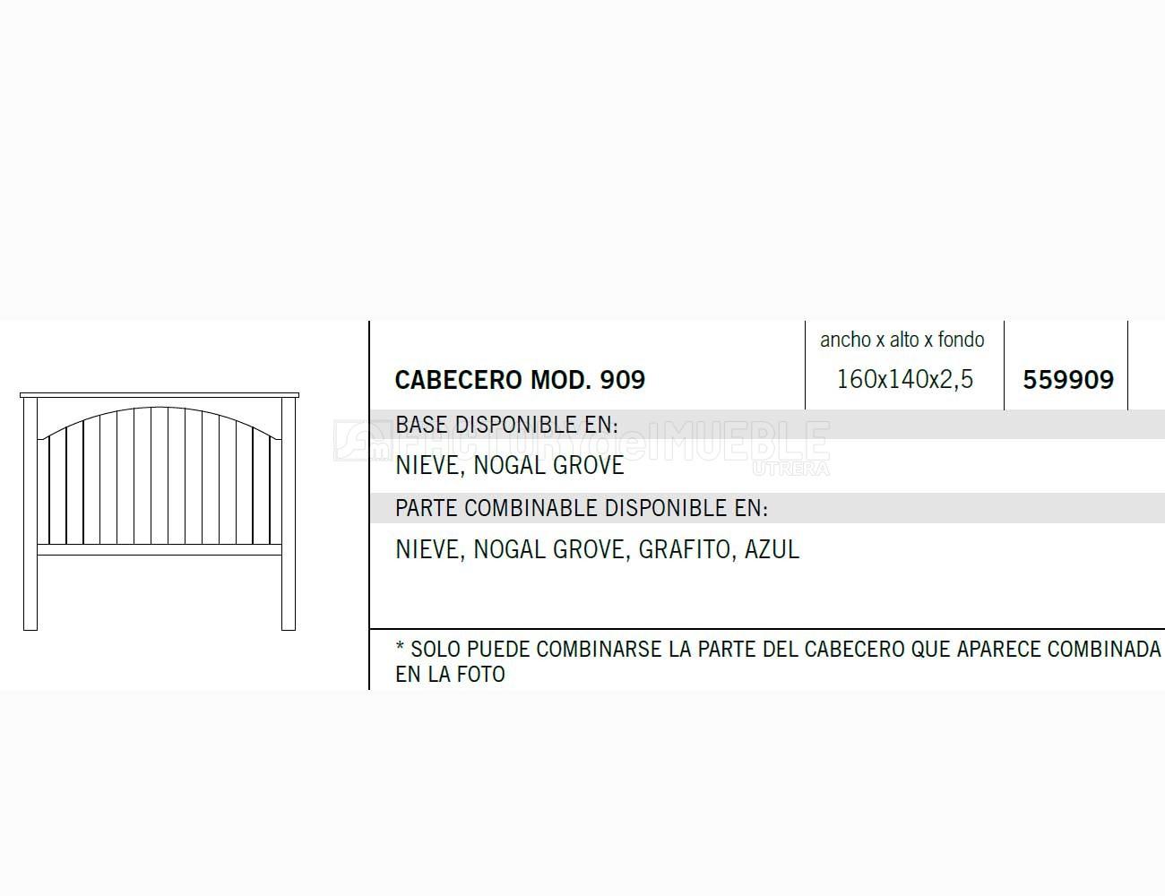 Cabecero 559909