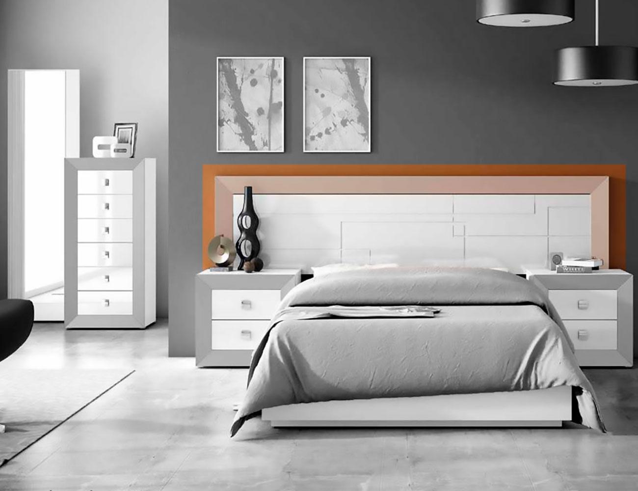 Cabecero cama matrimonio lacado 240 dormitorio 04