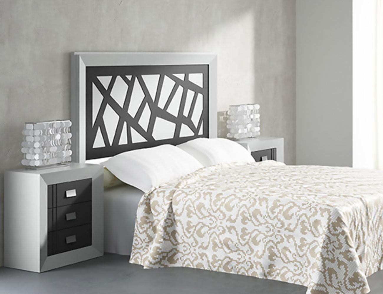 Muebles de dormitorio de matrimonio color blanco con grafito 7116 factory del mueble utrera - Muebles utrera ...