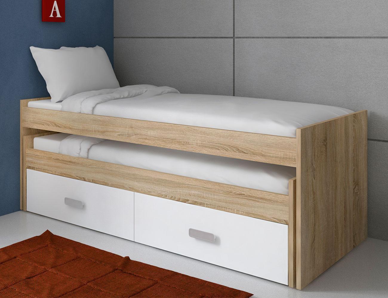 Dormitorio juvenil con cama nido y armario en cambrian con - Mueble cama nido ...