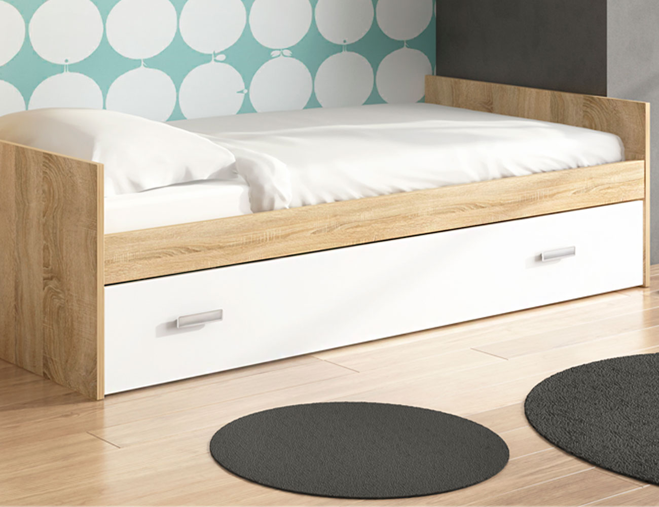 Cama nido frontal cambrian blanco