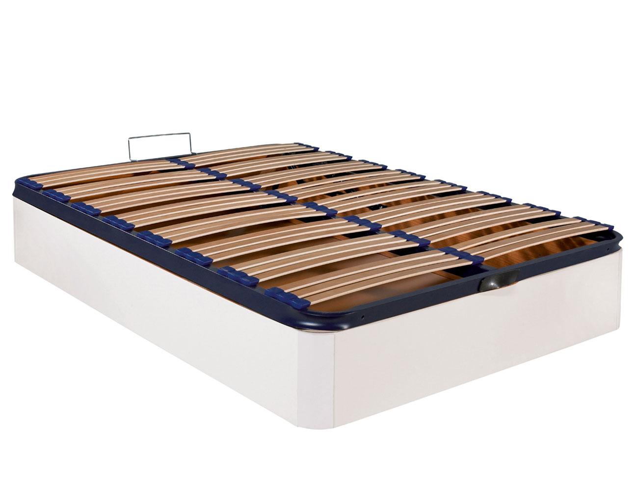 Canape madera blanco somier multilaminas barato ebro cerrado