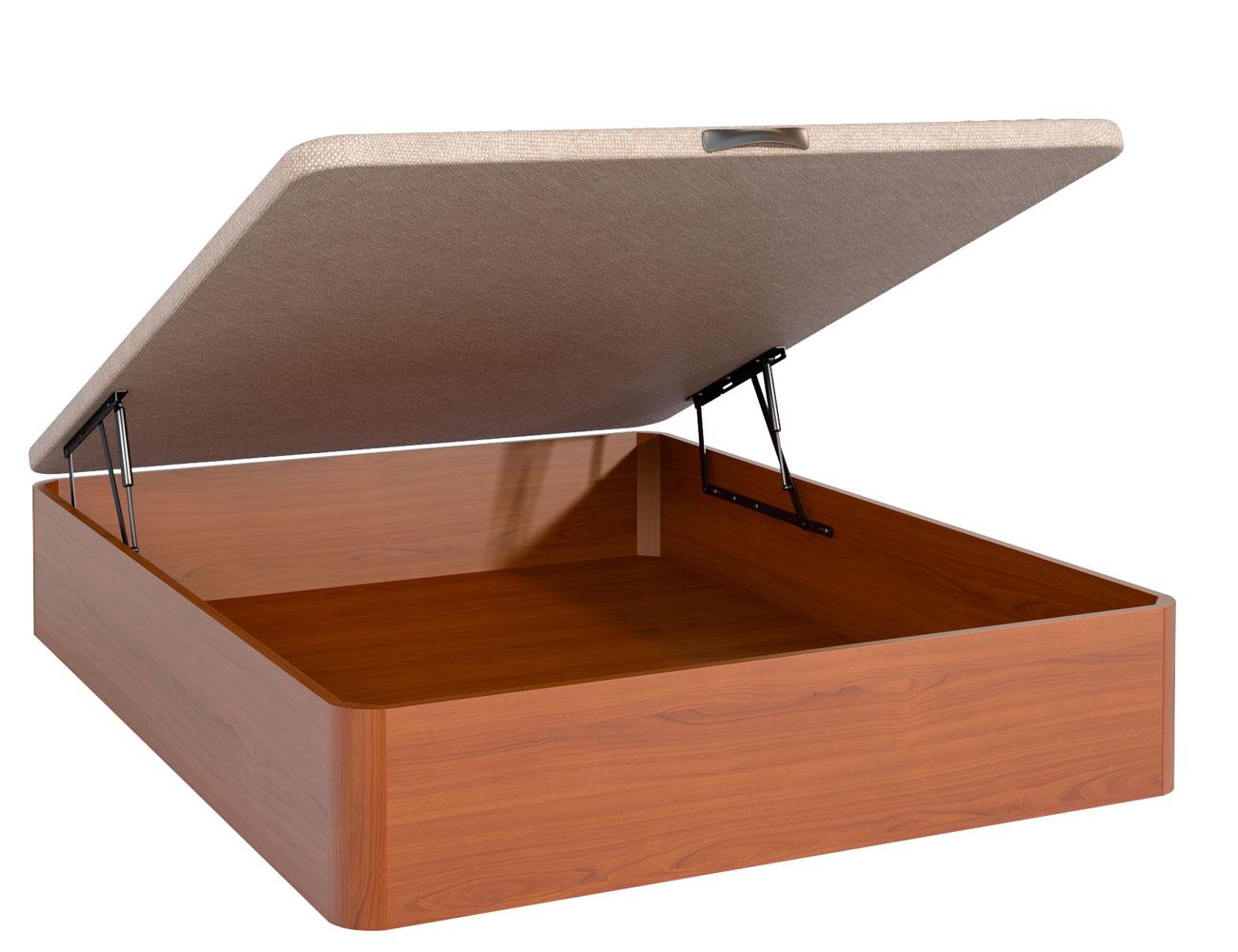 Canape madera nogal tapa 3d barato ebro abierto