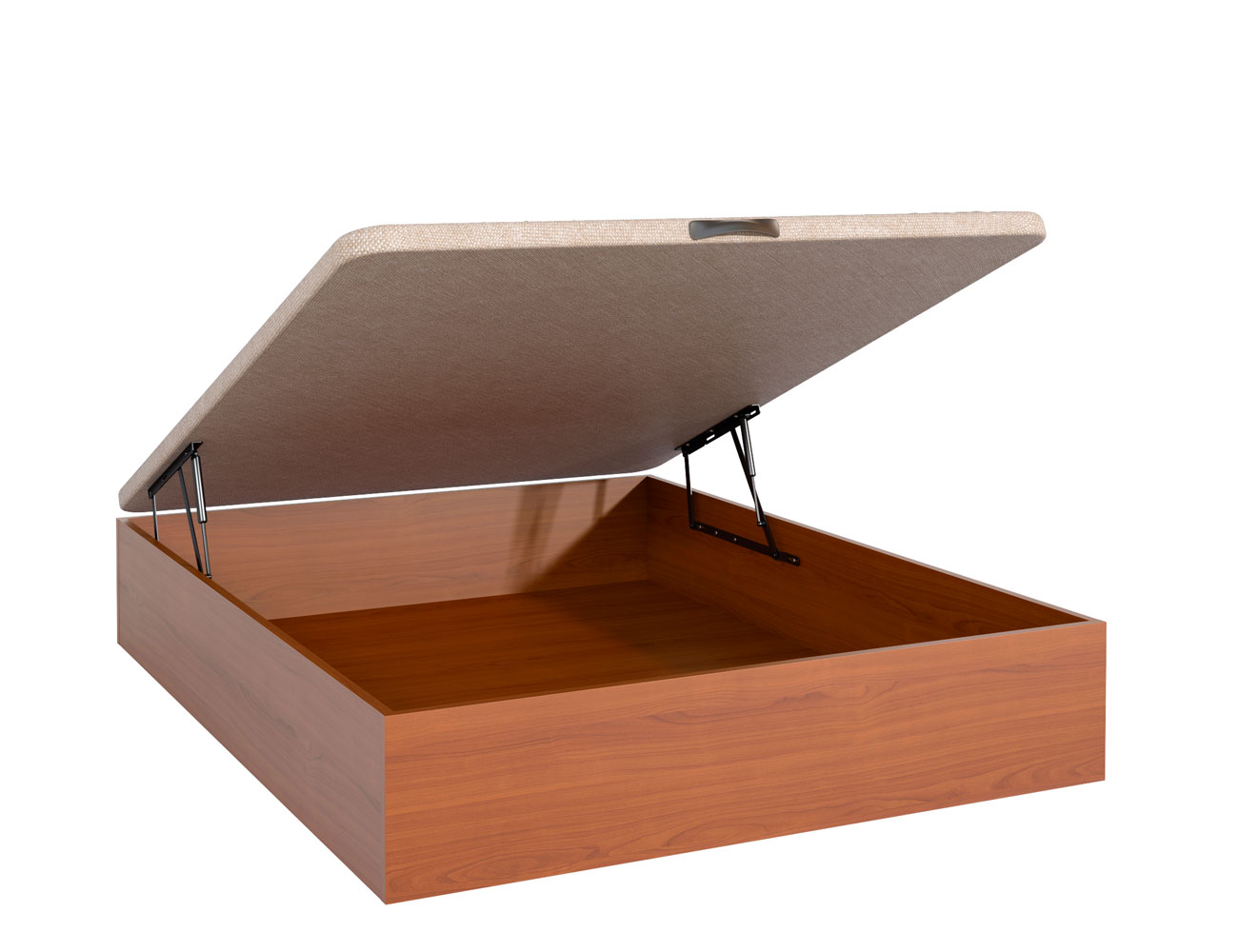 Canape madera nogal tapa 3d barato tajo abierto
