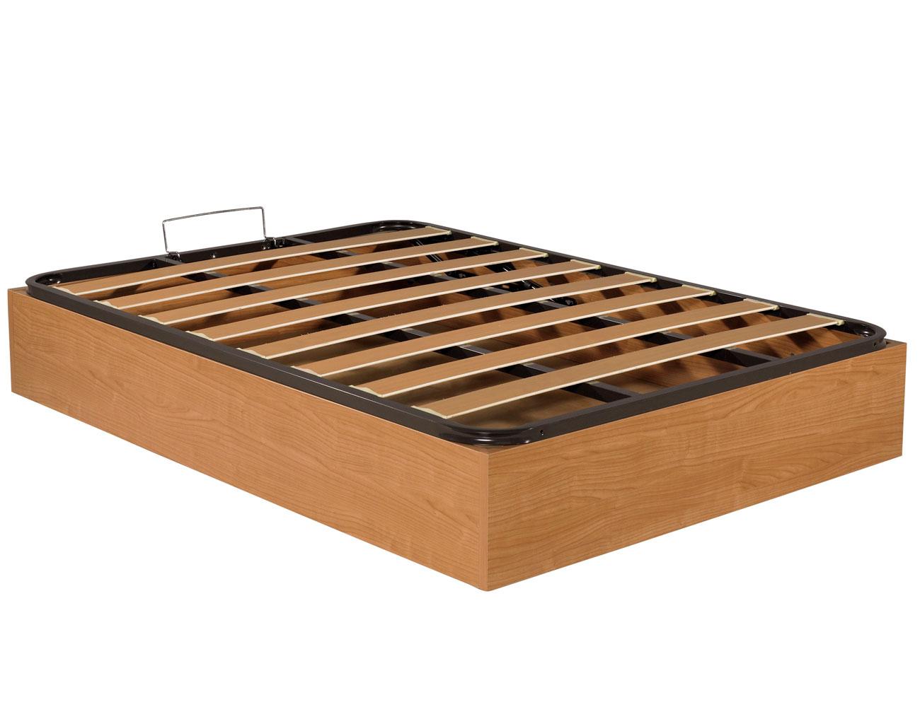 Canape madera somier basic nogal cerrado