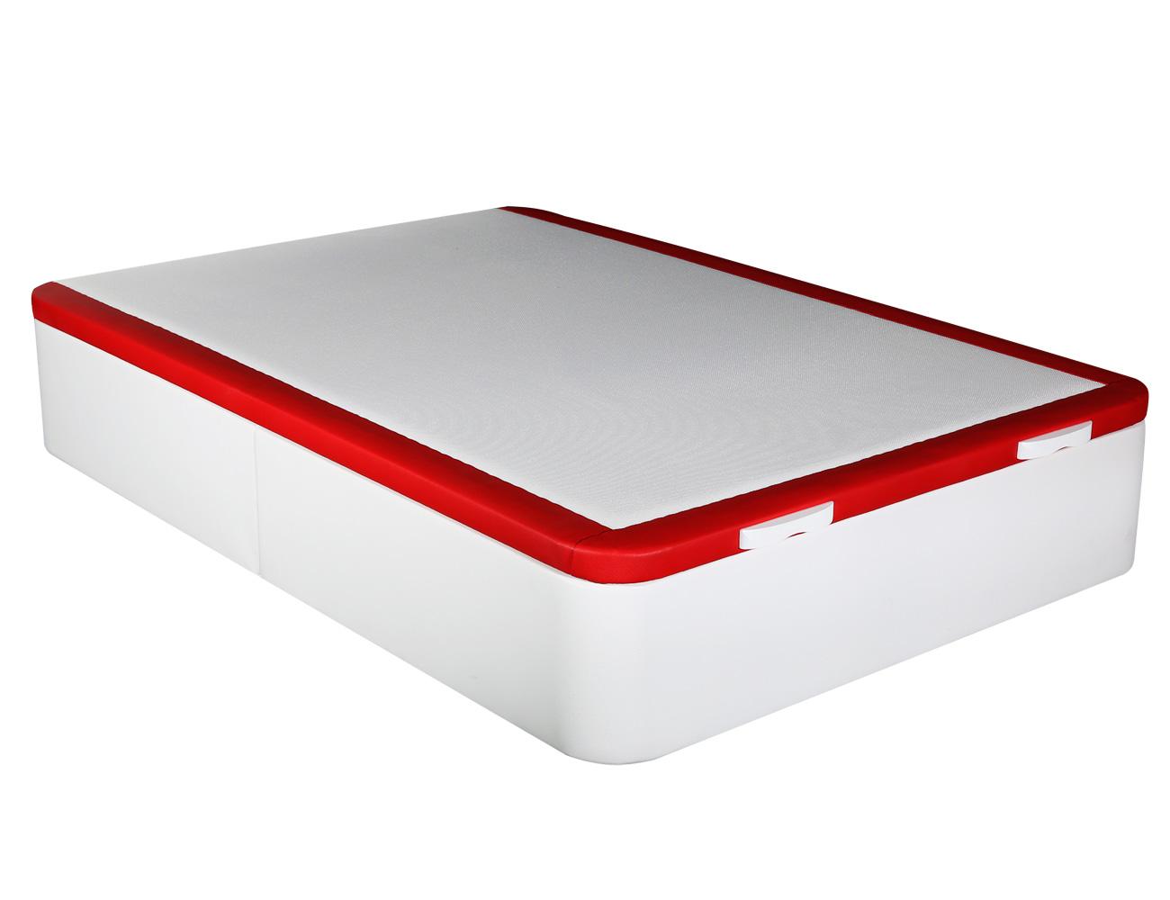Canape polipiel blanco rojo hercules