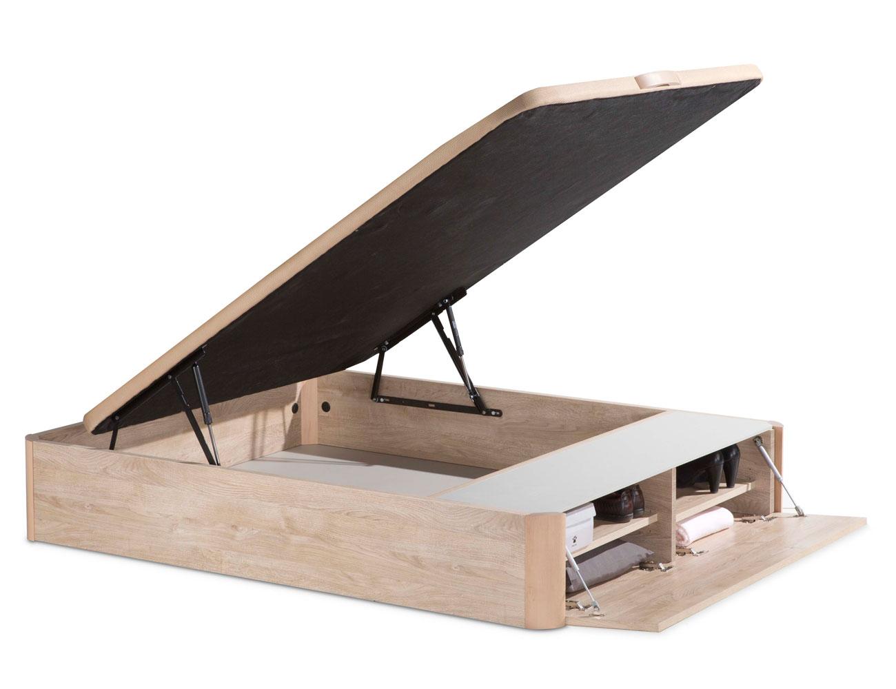 Canap de madera con zapatero 8051 factory del mueble for Canape con zapatero